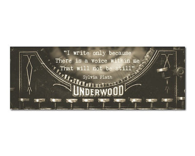 Bookmark - Vintage Typewriter Writing Quote