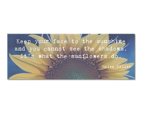 Bookmark - Sunflowers Quote