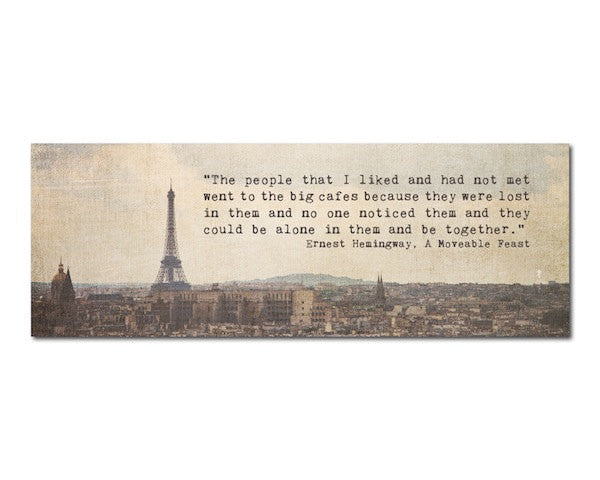Bookmark - Hemingway in Paris