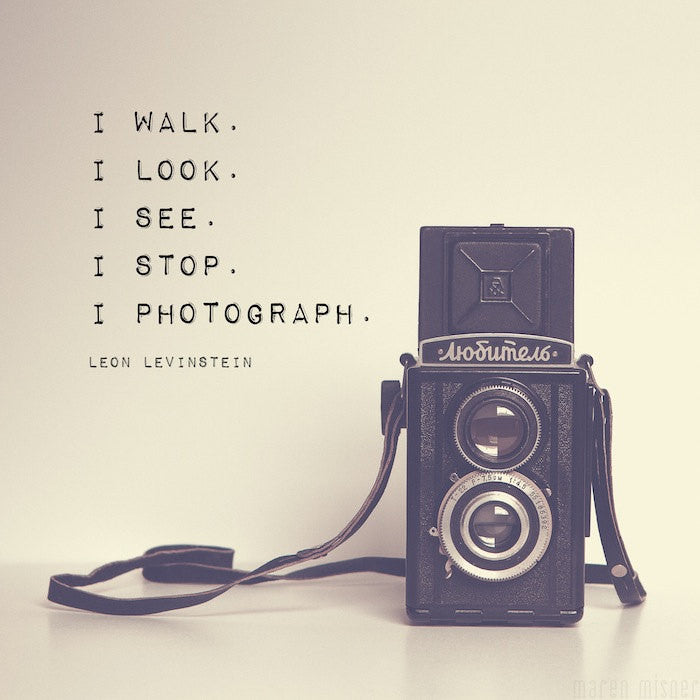 Vintage Camera Print | Inspirational Photography Quote