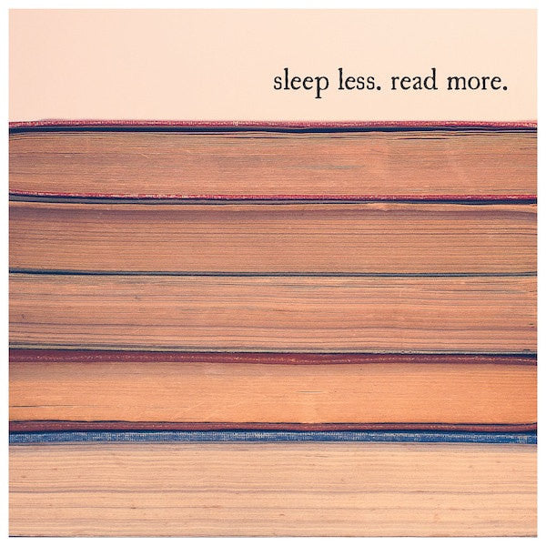 Vintage Books Quote Print | Sleep Less Read More
