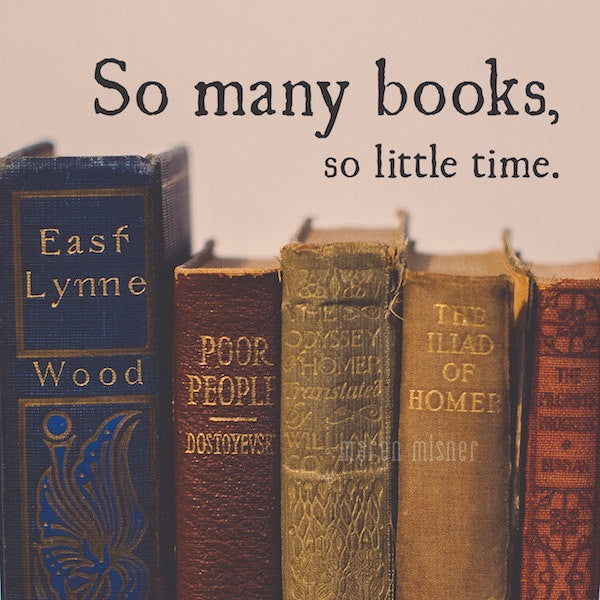 Vintage Books Print | So Many Books So Little Time Quote