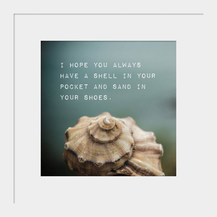 Seashell Print | Inspirational Quote