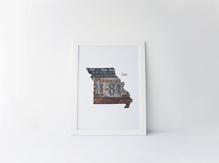 Missouri Home Print