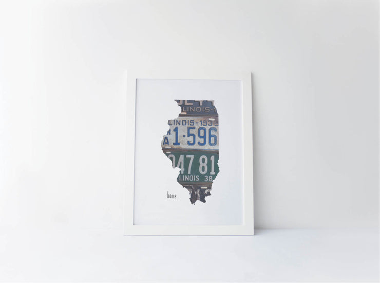 Illinois Home Print