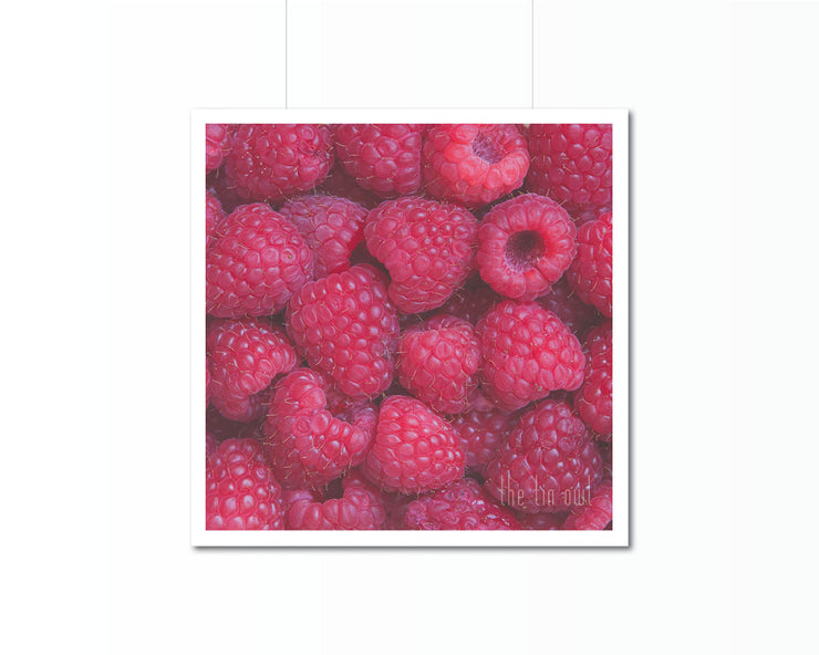 Raspberries Print | Kitchen Art Photography