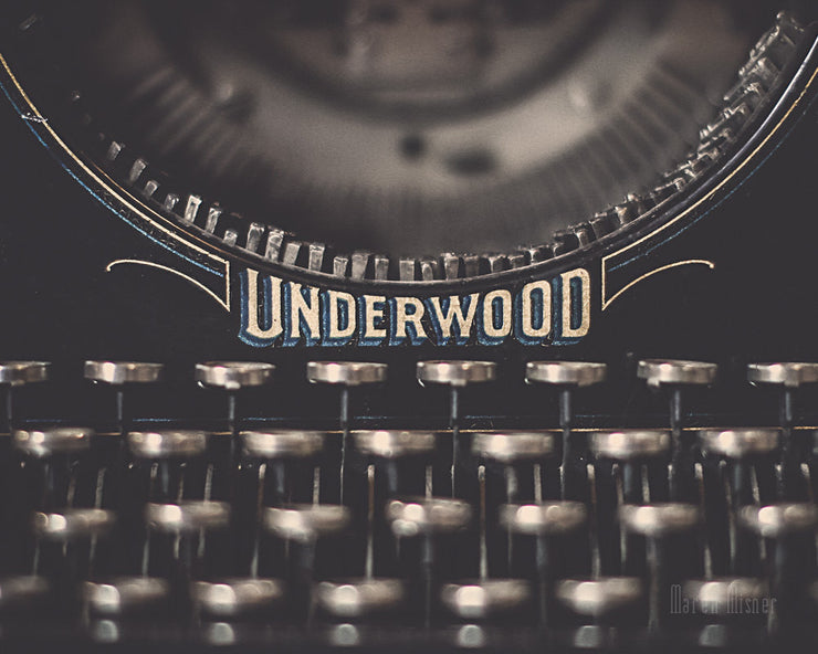 Typewriter Photograph | Vintage Typewriter Keys Wall Art