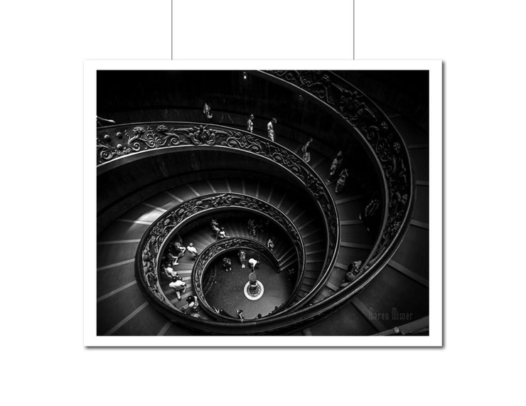 SALE - Black & White Fine Art Photograph | Vatican Staircase