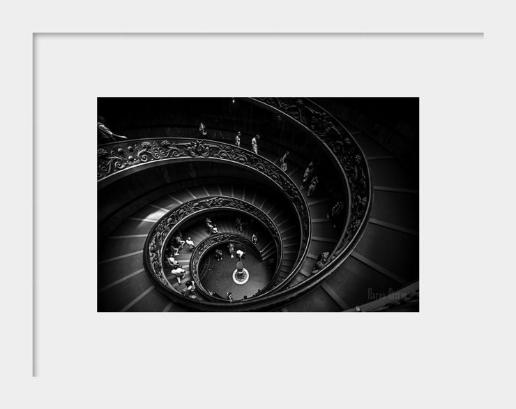 Black & White Fine Art Photograph | Vatican Staircase