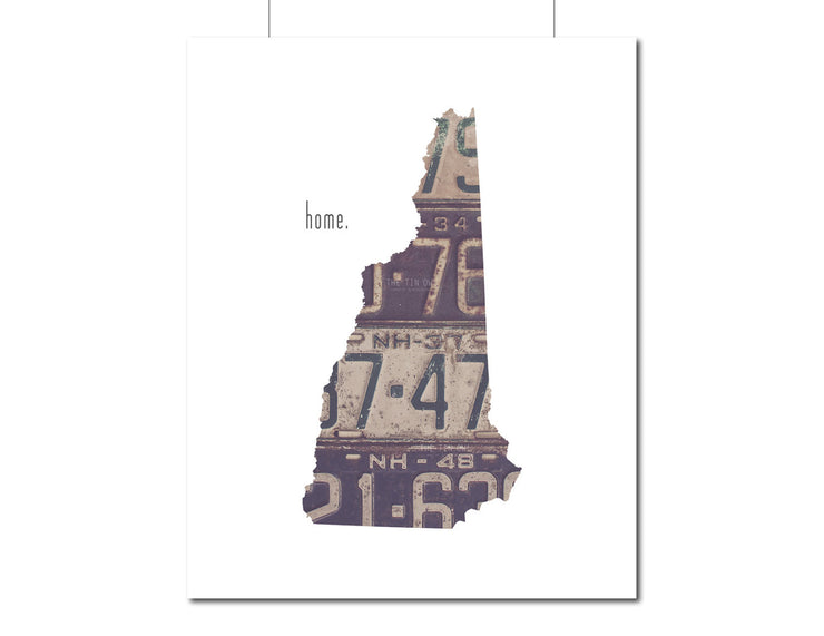 New Hampshire Home Print