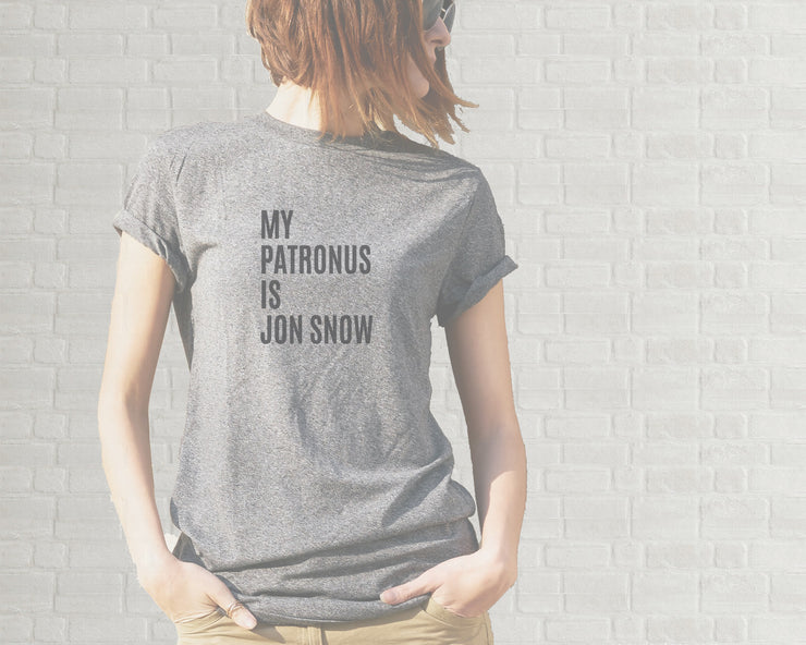 Adult T-Shirt - My Patronus Is Jon Snow