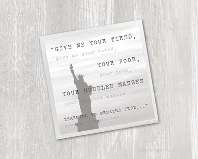 Magnet - Statue of Liberty Poem