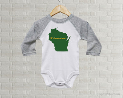 Lil Cheesehead Green Bay Packers Baby One Piece