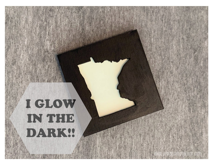 Glow in the Dark Art Magnet - Minnesota!
