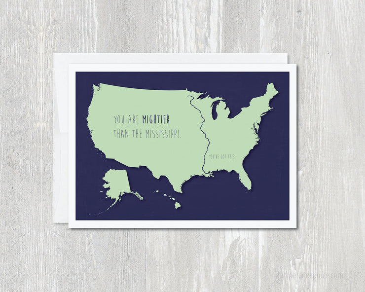 Greeting Card - Mightier than the Mississippi