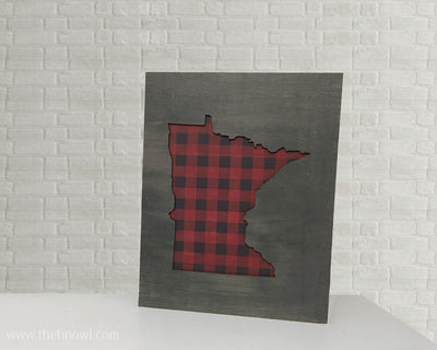 Minnesota Love Wooden Sign