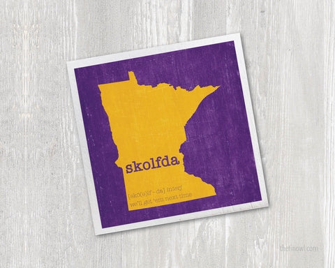 Skolfda Magnet - Minnesota Purple and Gold