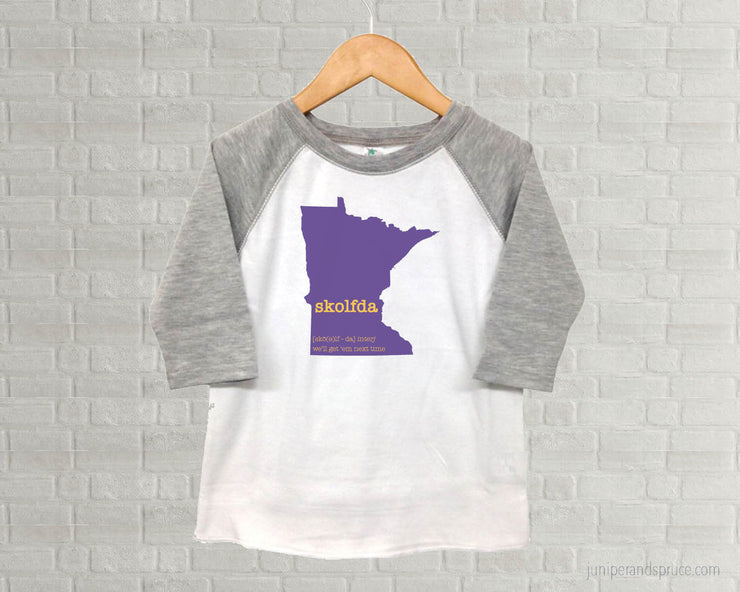 Minnesota Vikings Skolfda - Youth Raglan T-Shirt