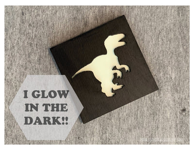 Glow in the Dark Art Magnet - T-Rex