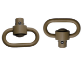 Push Button Swivels Heavy Duty Flat Dark Earth CERAKOTE™ - GTSW253 - GrovTec