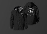 Black Hooded Windbreaker Jacket - GrovTec