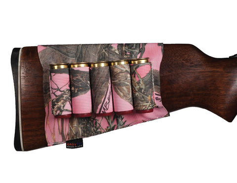 Shotgun Buttstock Ammo Holder True Timber® Pink -  GTAC75 - GrovTec