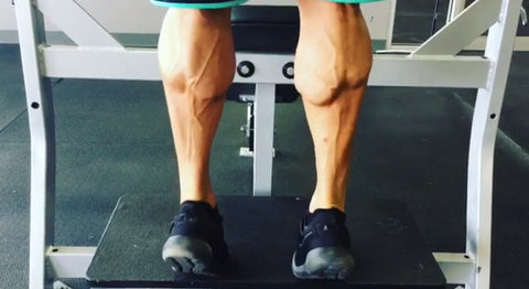 Jay Cellier performing standing calf raises