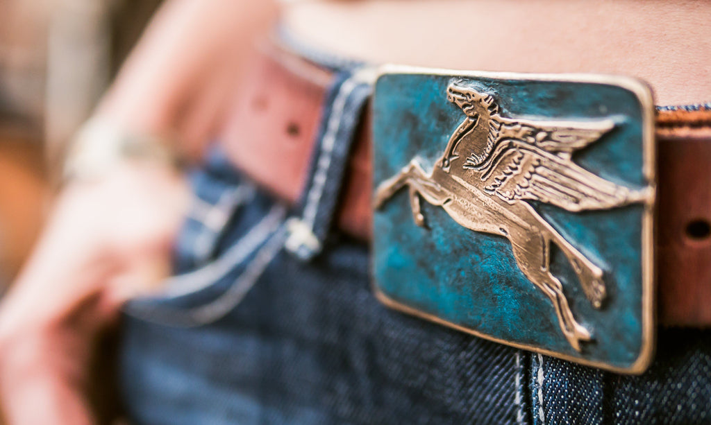 Pegasus Bronze Belt Buckle
