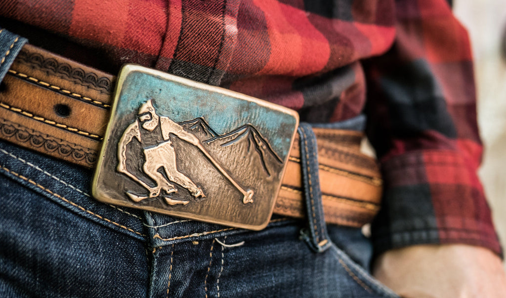 """Ridge Racer"" - Bronze Belt Buckle"
