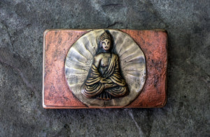 """Meditating Buddha"" - Bronze Belt Buckle"
