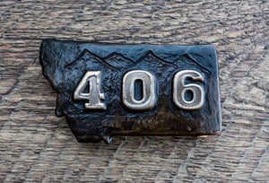 Bronze 406 (Montana) Belt Buckle