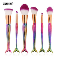 6pc Mermaid Brush Set