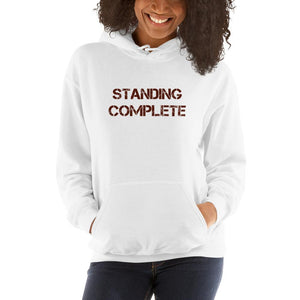 young lady wearing pink Complete Understanding hoodie