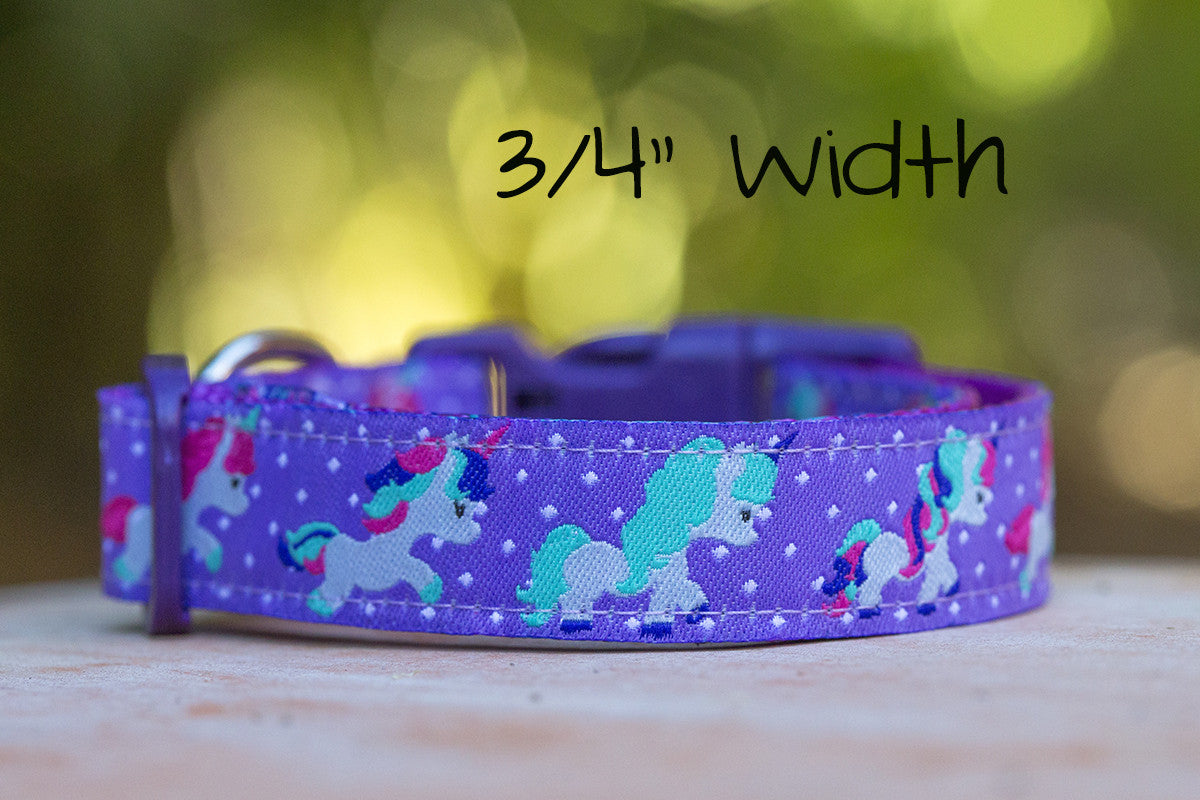 Unicorn Dog Collar / XS-XL