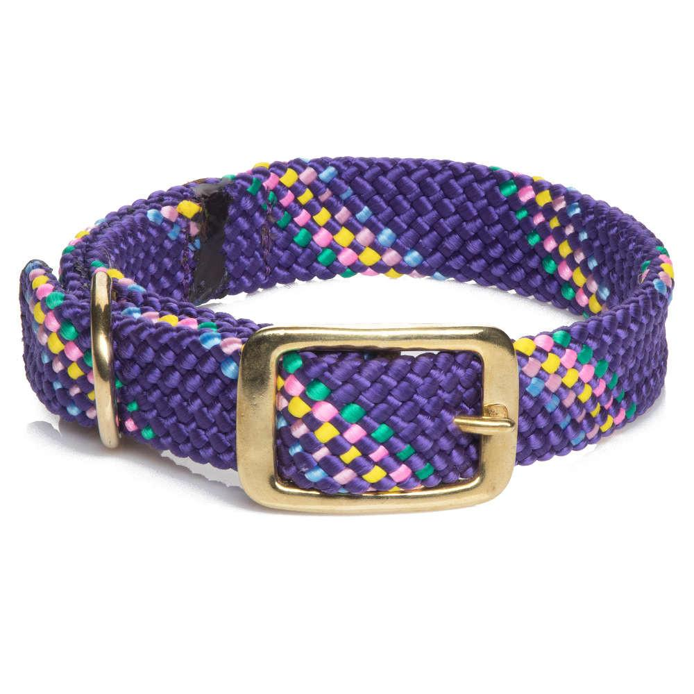 Mendota Dog Collar - Purple Confetti-Dog Collar-Dizzy Dog Collars