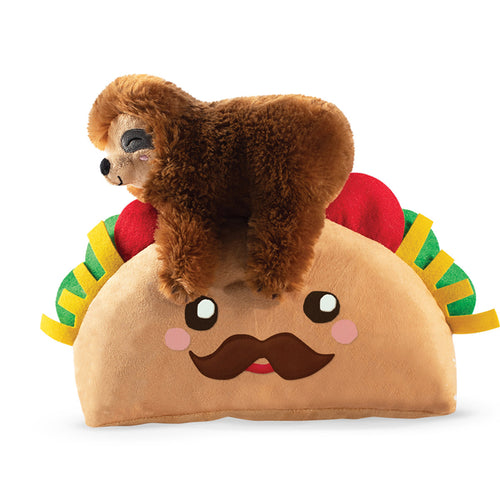 Fringe Studio Taco Sloth Plush Dog Toy
