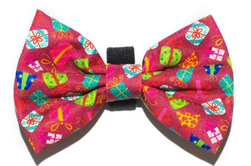 Purple Presents Xmas Bow Tie - Small & Large