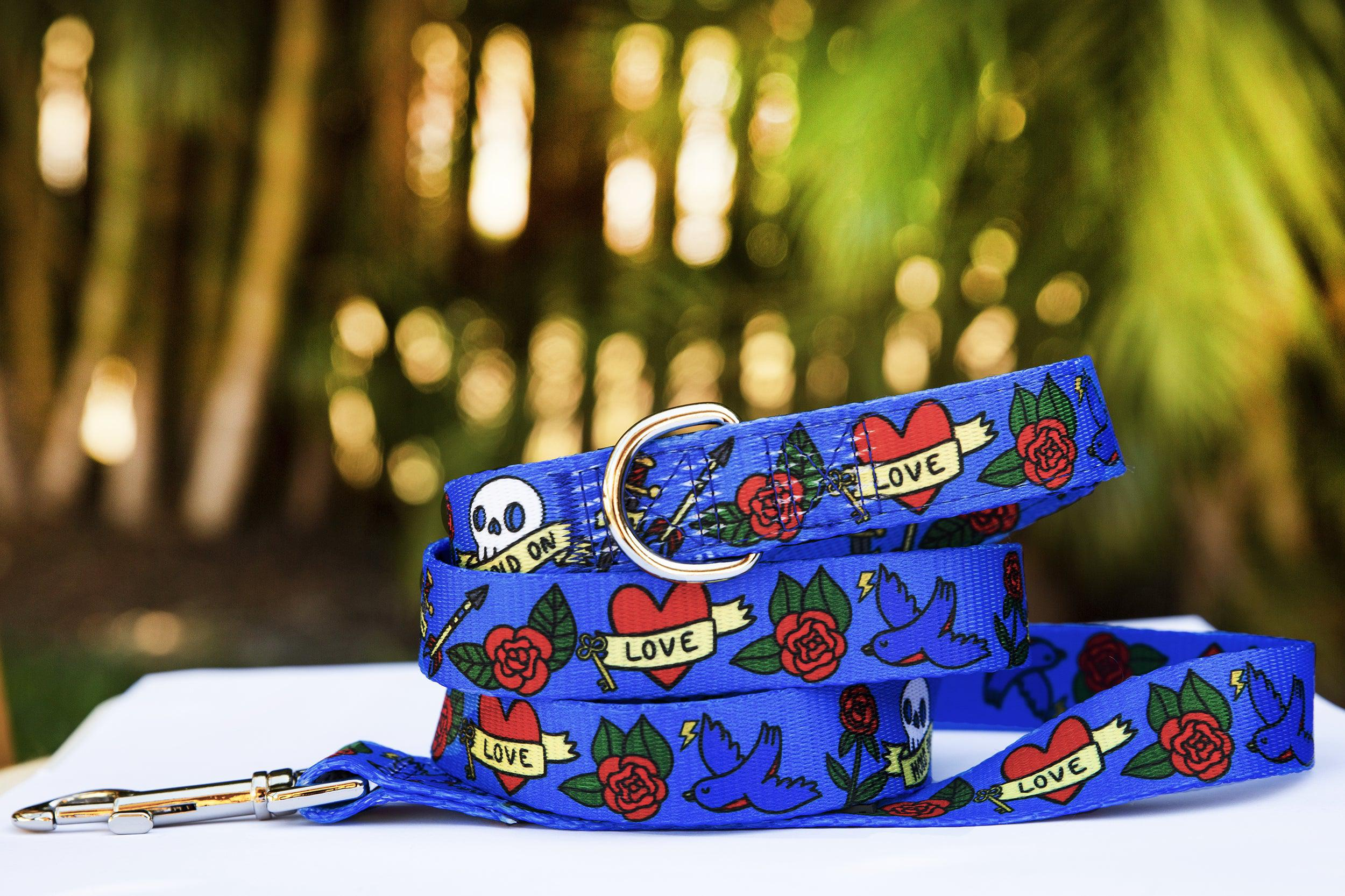 Rockabilly Dog Leash (Premade)-Dizzy Dog Collars