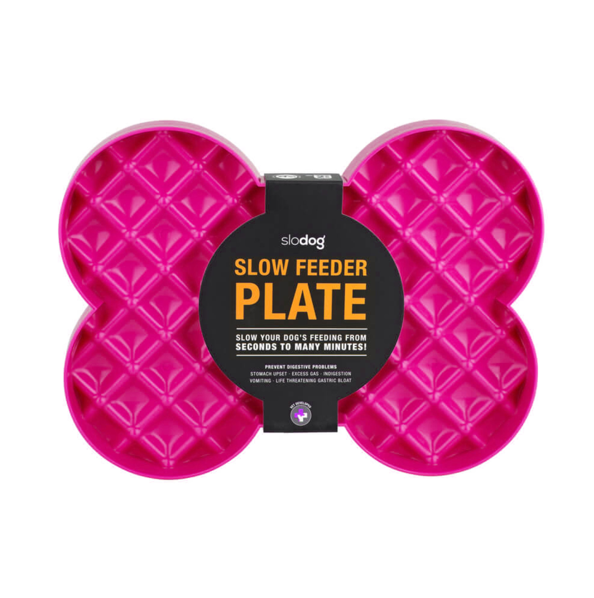 SloDog - Slow Feeder Plate (Pink)-Dizzy Dog Collars-Dizzy Dog Collars