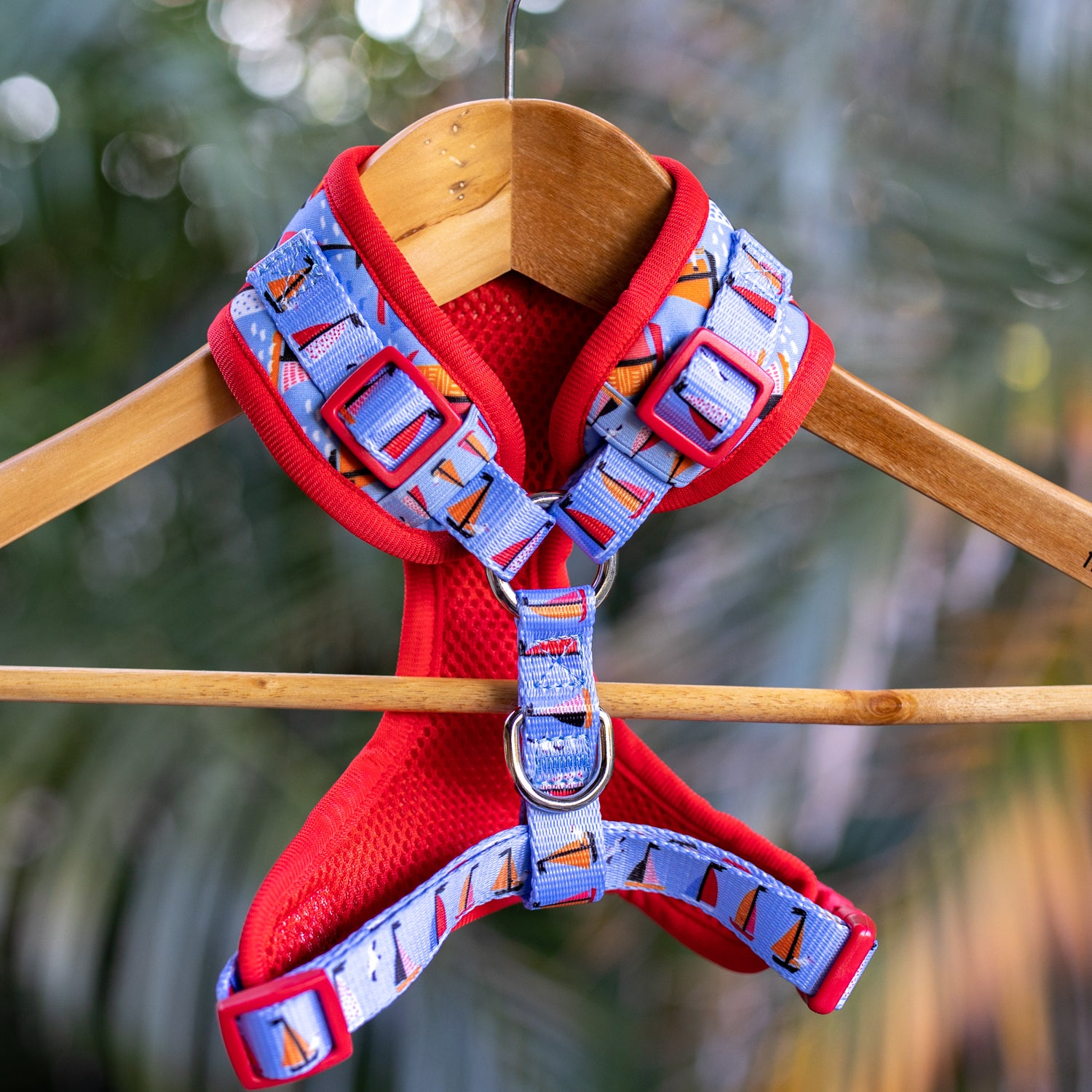 DOG HARNESS - Sail Away - Neck Adjustable Harness (Premade)-Harness-Dizzy Dog Collars