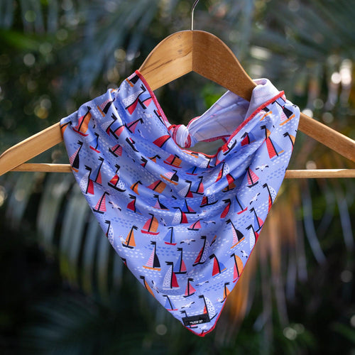 Dog Bandana - Tie Up Bandana - Sail Away