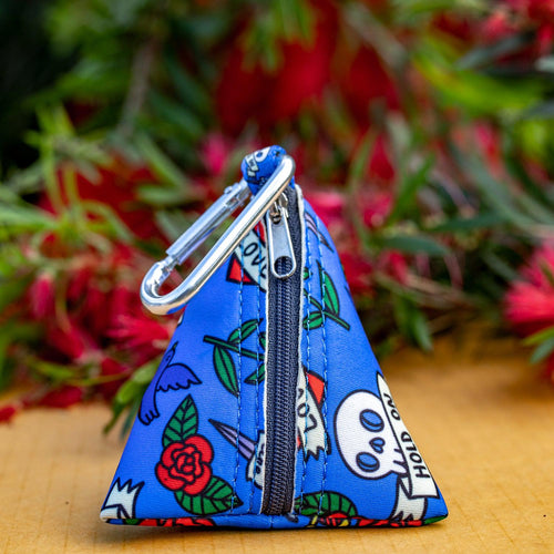 Rockabilly Pocket- For Poop Bags, Treat and/or Keys/Coins