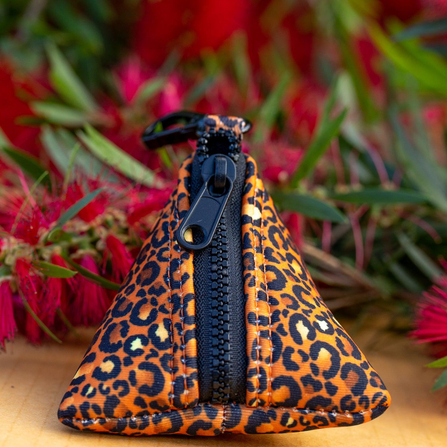 Safari - Leopard Print Pocket- For Poop Bags, Treat and/or Keys/Coins-Dizzy Dog Collars