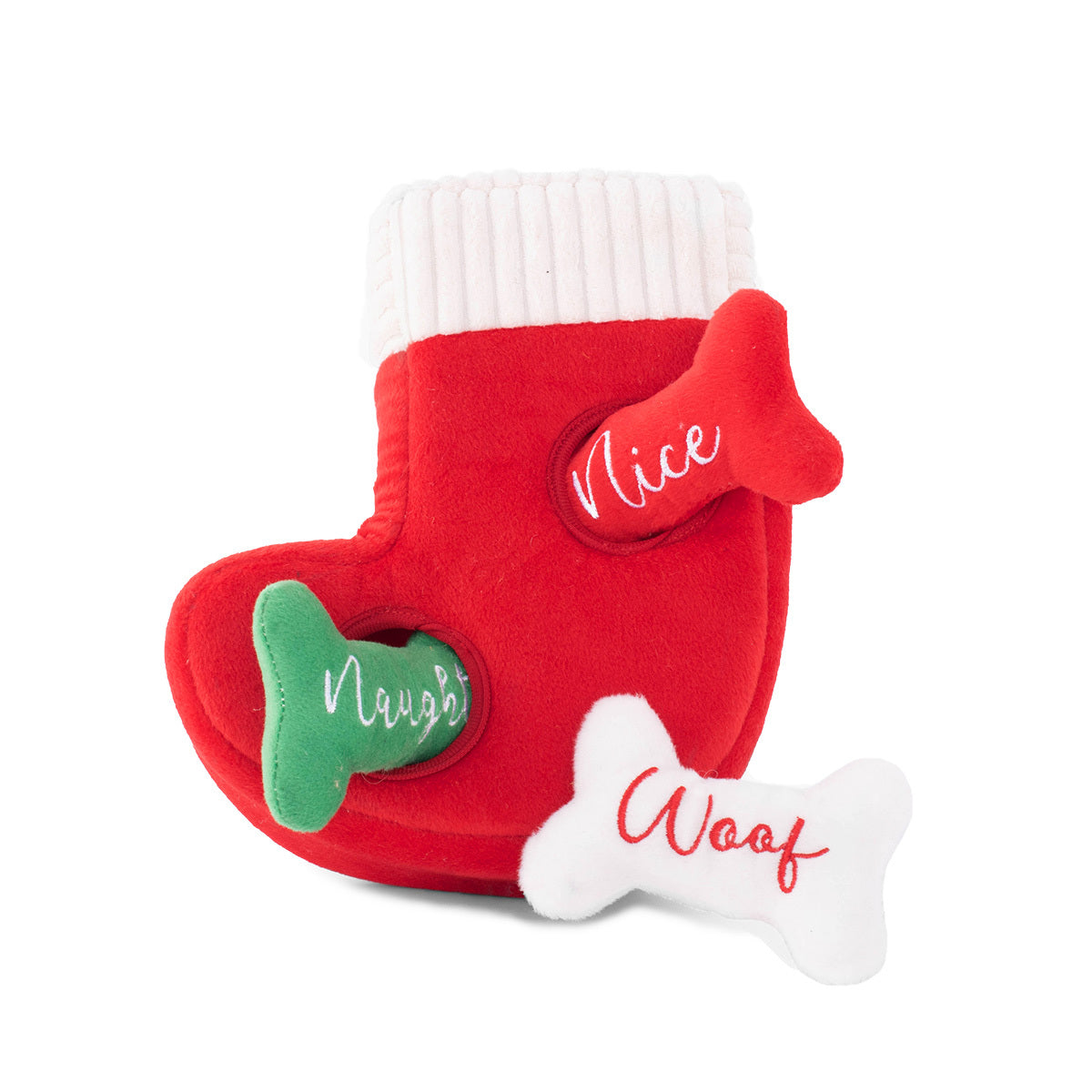 Holiday Burrow - Naughty or Nice Stocking by Zippy Paws-Dizzy Dog Collars