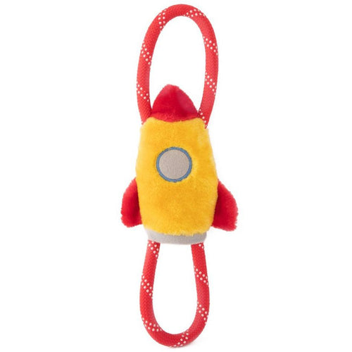 Zippy Paws RopeTugz Storybook Space Plush Squeaker Dog Toy - Spaceship