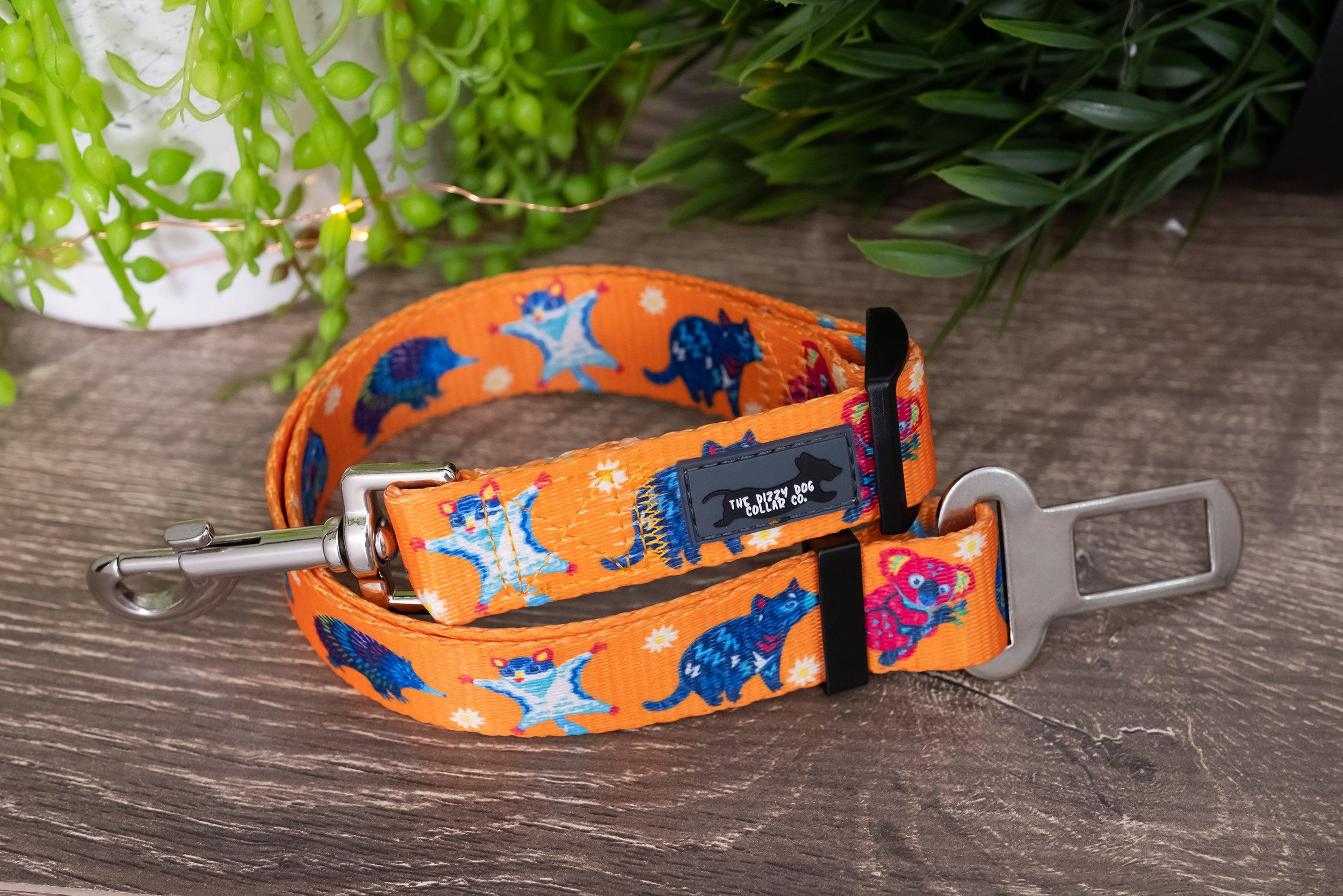 Dog Seatbelt - Aussie Animals (Premade)-Dizzy Dog Collars