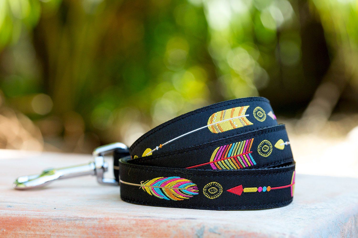 Aztec Arrows Dog Leash / Tribal Dog Lead-Dizzy Dog Collars-Dizzy Dog Collars