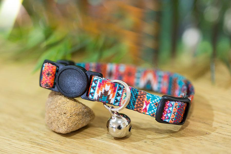Aztec Cat Collar / Toy Breed Dog Collar-Dizzy Dog Collars-Dizzy Dog Collars