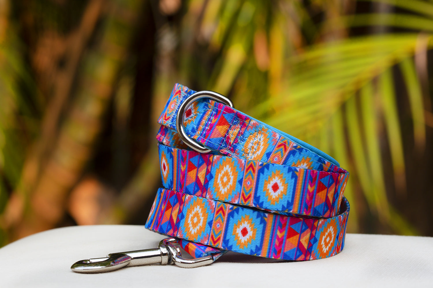 Beach Aztec Dog Leash (Premade)-Dizzy Dog Collars