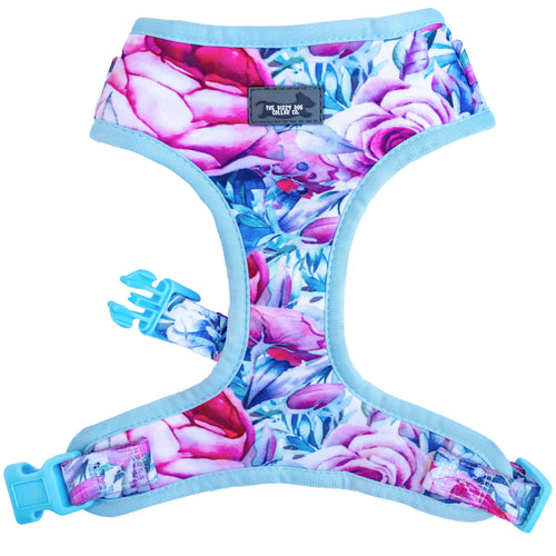 DOG HARNESS - Blossom Rose - Neck Adjustable Harness